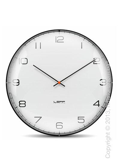Часы настенные LEFF Amsterdam wall clock one45 white convex glass arabic