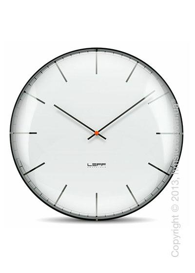 Часы настенные LEFF Amsterdam wall clock one45 white index convex glass