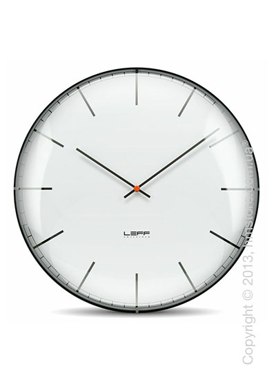 Часы настенные LEFF Amsterdam wall clock one45 white index convex glass