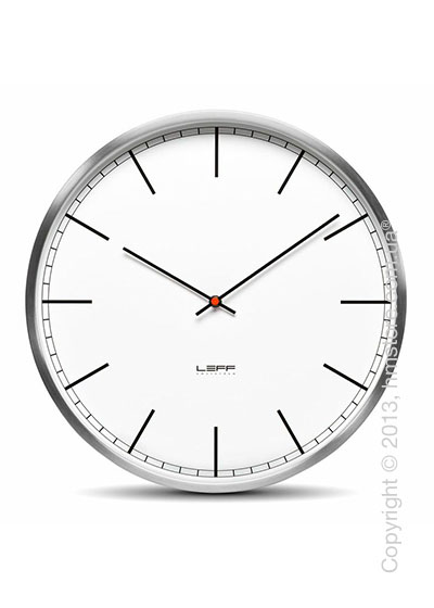 Часы настенные LEFF Amsterdam wall clock one45 white index stainless steel