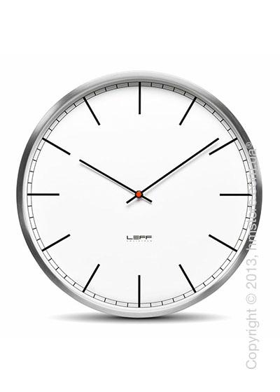 Часы настенные LEFF Amsterdam wall clock one45 white index stainless steel