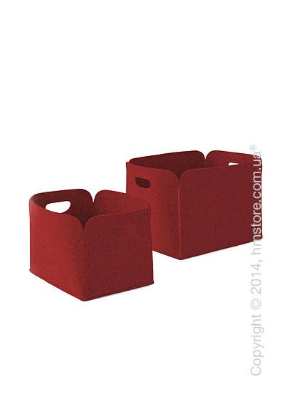 Набор корзин Calligaris Daryl, 2 предмета, Polyester felt brick red