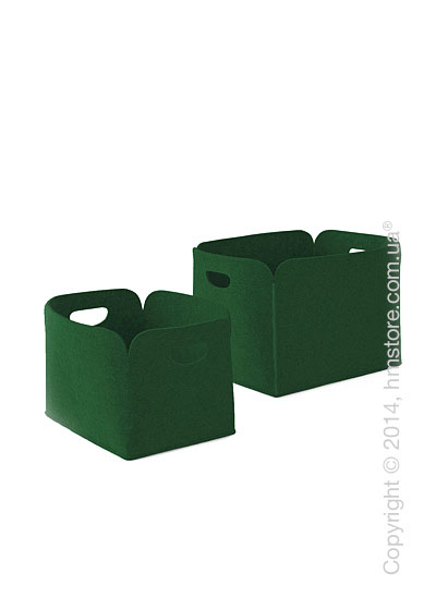 Набор корзин Calligaris Daryl, 2 предмета, Polyester felt green