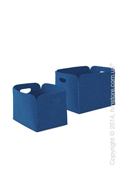 Набор корзин Calligaris Daryl, 2 предмета, Polyester felt blue