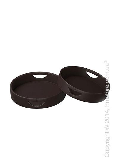 Набор круглых подносов Calligaris Damian, 2 предмета, PVC Brown