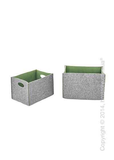 Набор корзин Calligaris Dorian, 2 предмета, Polyester felt grey and Olive green