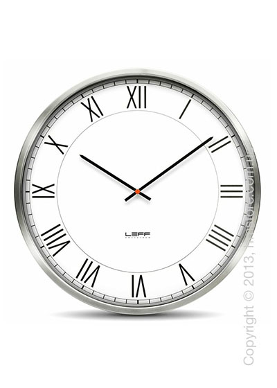 Часы настенные LEFF Amsterdam wall clock one45 white roman stainless steel