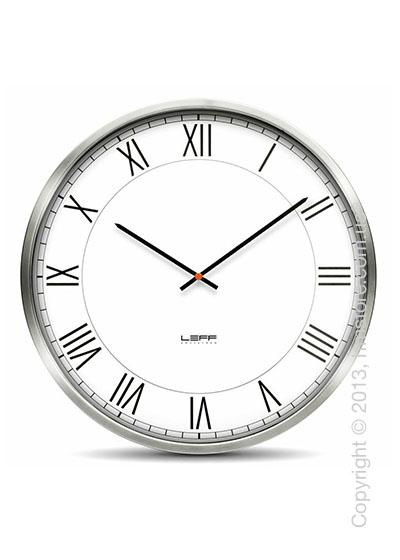 Часы настенные LEFF Amsterdam wall clock one45 white roman stainless steel