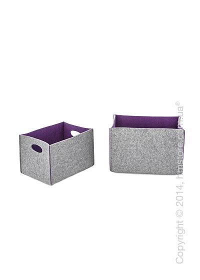 Набор корзин Calligaris Dorian, 2 предмета, Polyester felt grey and Violet