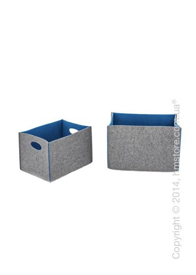 Набор корзин Calligaris Dorian, 2 предмета, Polyester felt grey and Blue