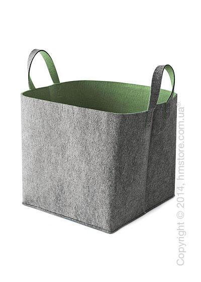 Корзина Calligaris Elliott, Polyester felt grey and Olive green
