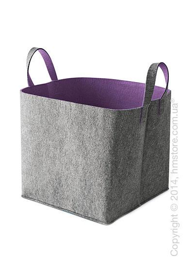 Корзина Calligaris Elliott, Polyester felt grey and Violet