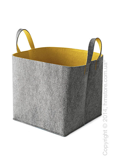 Корзина Calligaris Elliott, Polyester felt grey and Mustard yellow