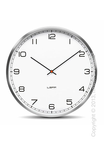 Часы настенные LEFF Amsterdam wall clock one45 white stainless steel arabic