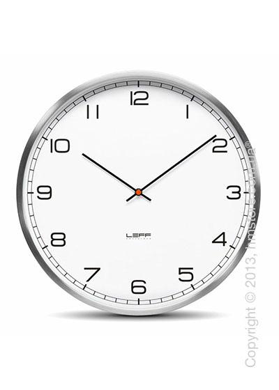 Часы настенные LEFF Amsterdam wall clock one45 white stainless steel arabic