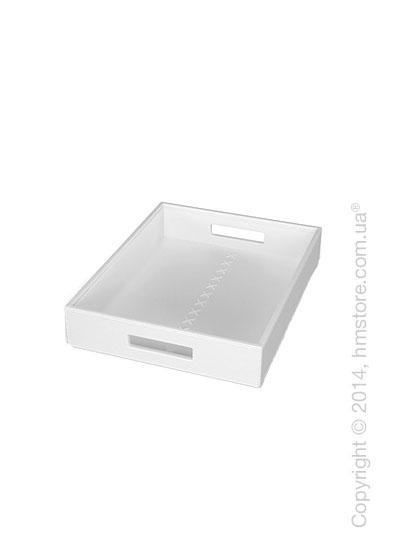 Набор прямоугольных подносов Calligaris Thomas, 2 предмета, PVC White