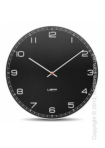 Часы настенные LEFF Amsterdam wall clock one55 black glass arabic
