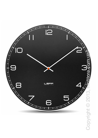 Часы настенные LEFF Amsterdam wall clock one55 black glass arabic