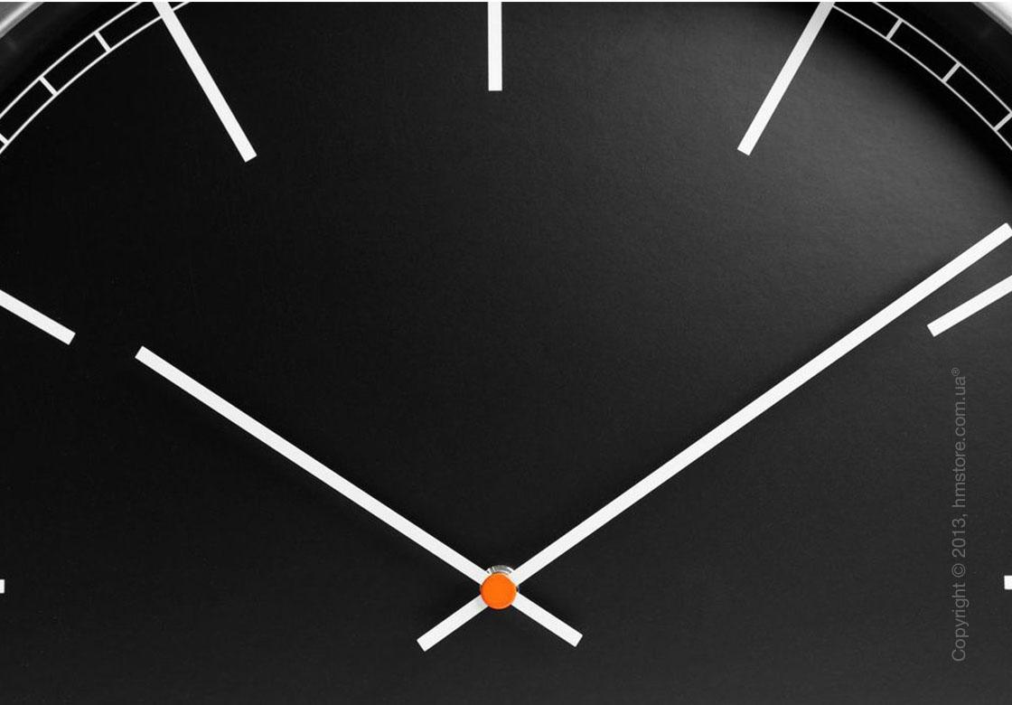 Часы настенные LEFF Amsterdam wall clock one55 black index glass