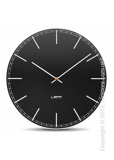 Часы настенные LEFF Amsterdam wall clock one55 black index glass