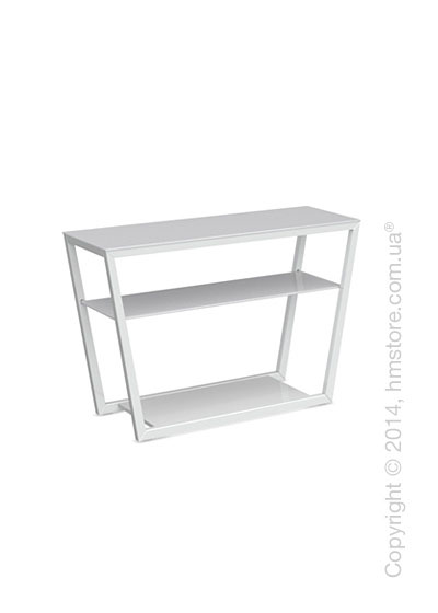 Стол Calligaris Element console table, Lacquered glossy white and Frosted tempered glass extrawhite