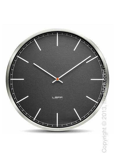 Часы настенные LEFF Amsterdam wall clock one55 black index stainless steel
