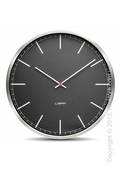 Часы настенные LEFF Amsterdam wall clock one55 black index stainless steel