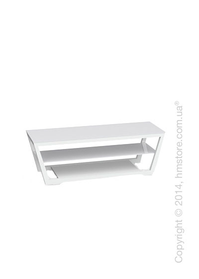 Подставка под телевизор Calligaris Element, Lacquered glossy white and Frosted tempered glass extrawhite