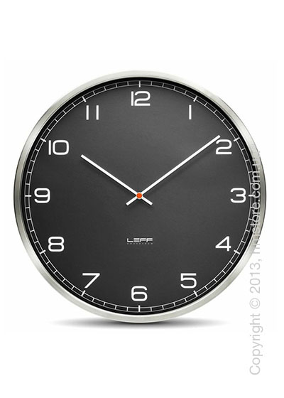Часы настенные LEFF Amsterdam wall clock one55 black stainless steel arabic