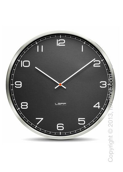 Часы настенные LEFF Amsterdam wall clock one55 black stainless steel arabic