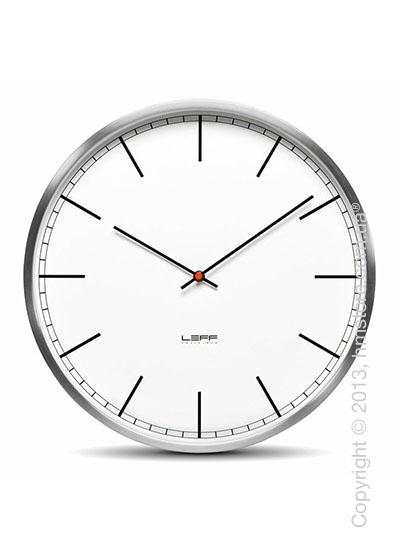 Часы настенные LEFF Amsterdam wall clock one55 white index stainless steel