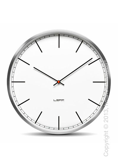 Часы настенные LEFF Amsterdam wall clock one55 white index stainless steel