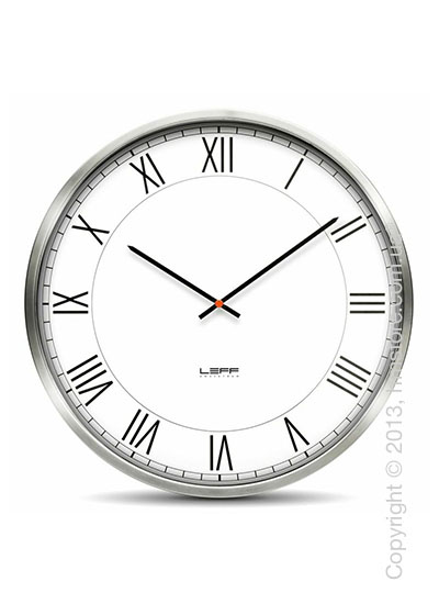 Часы настенные LEFF Amsterdam wall clock one55 white roman stainless steel