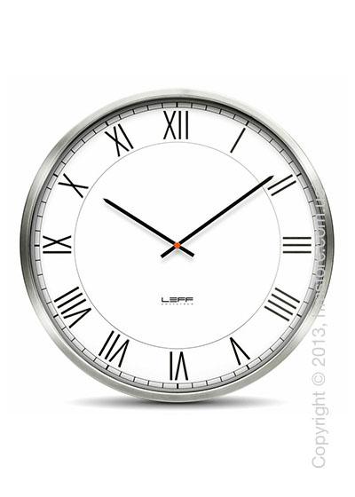 Часы настенные LEFF Amsterdam wall clock one55 white roman stainless steel