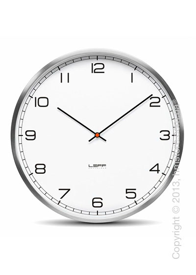 Часы настенные LEFF Amsterdam wall clock one35 white stainless steel arabic