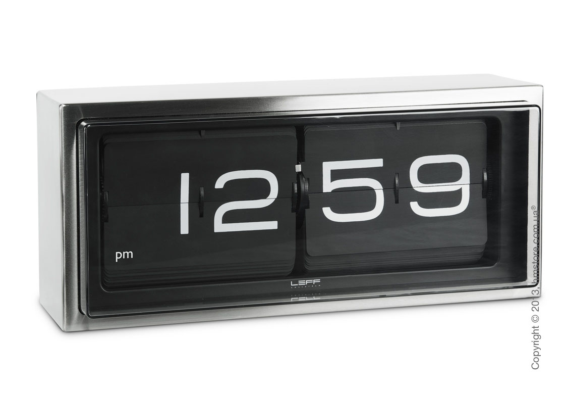 Часы LEFF Amsterdam wall/desk clock brick black stainless steel 24h