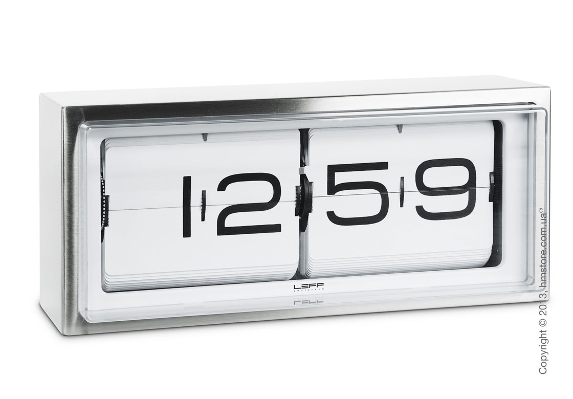 Часы LEFF Amsterdam wall/desk clock brick white stainless steel 24h