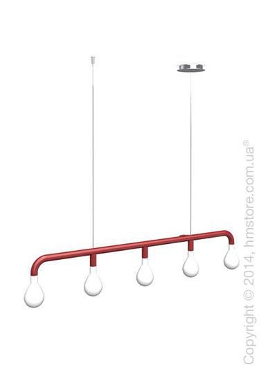Подвесной светильник Calligaris Pom Pom, Suspension lamp, Metal matt red