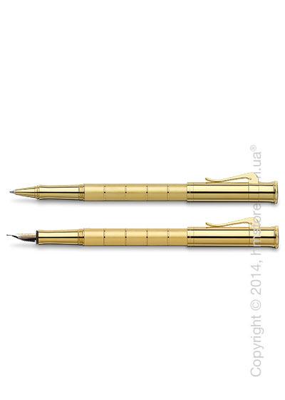 Комплект – ручка перьевая и ручка роллер Graf von Faber-Castell (серия Classic Anello, коллекция Gold)