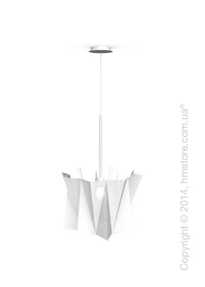 Подвесной светильник Calligaris Andromeda, Adjustable height suspension lamp, Fabric white
