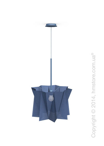 Подвесной светильник Calligaris Andromeda, Adjustable height suspension lamp, Fabric blue