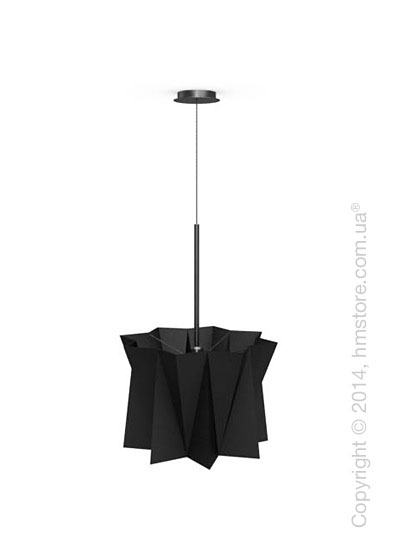 Подвесной светильник Calligaris Andromeda, Adjustable height suspension lamp, Fabric black