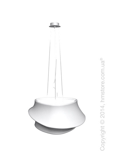 Подвесной светильник Calligaris Cugnus, Suspension lamp, Fabric white