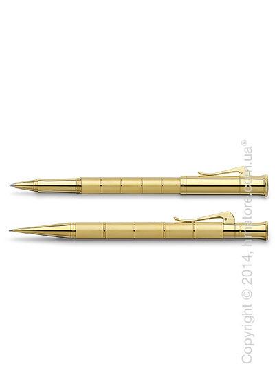 Комплект – ручка роллер и механический карандаш Graf von Faber-Castell (серия Classic Anello, коллекция Gold)