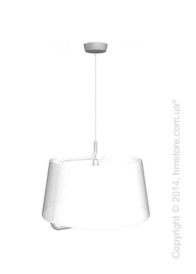 Подвесной светильник Calligaris Sextans, Suspension lamp, Fabric white