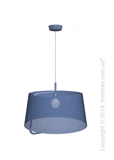 Подвесной светильник Calligaris Sextans, Suspension lamp, Fabric blue