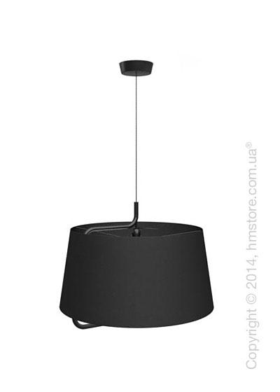 Подвесной светильник Calligaris Sextans, Suspension lamp, Fabric black