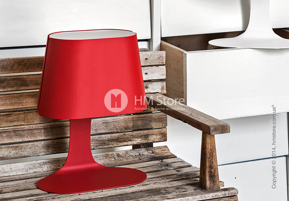 Настольный светильник Calligaris Baku, Metall matt red