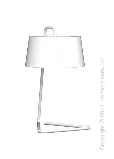 Настольный светильник Calligaris Sextans, Table lamp, Fabric white