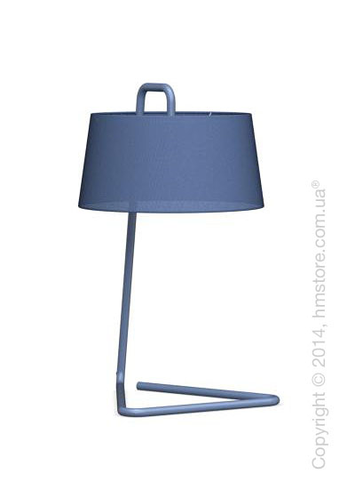 Настольный светильник Calligaris Sextans, Table lamp, Fabric blue